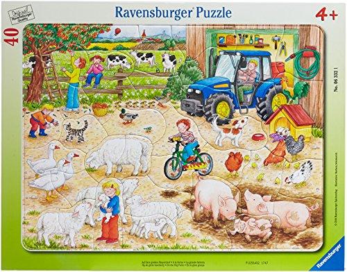 (Ravensburger On The Big Farm 40 Pieces Frame Puzzle)