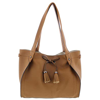 e433f697b78 Jessica Simpson Womens Elenore Faux Leather Pebbled Shopper Handbag Brown  Medium  Handbags  Amazon.com