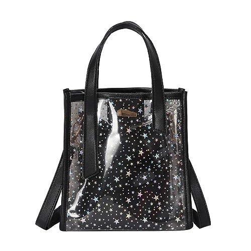 da2581578a1c Amazon.com: Rakkiss Womens Crossbody Bag Fashion Star Jelly Shoulder ...