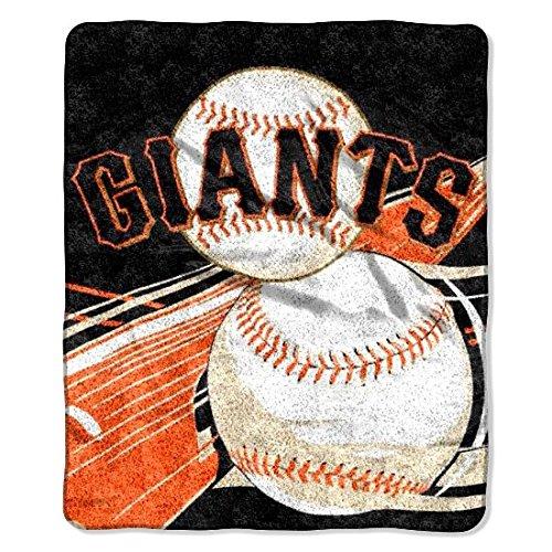 San Francisco Giants Throw - The Northwest Company MLB San Francisco Giants Big Stick Sherpa on Sherpa Throw, 50