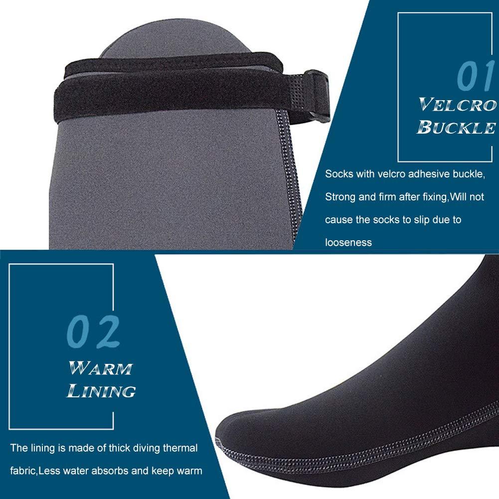 2656c4f8aed9 Amazon.com   DiNeop Neoprene Socks 3MM Diving Fin Socks Wetsuit Scuba  Booties for Men Women Kids Youth