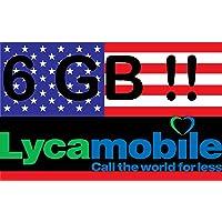 Prepaid Sim-Karte USA - 6GB 4G LTE - Unbegrenzte internationale Anrufe und Sms - 30 Tage