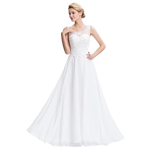 White Dinner Gown: Amazon.co.uk
