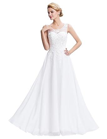 low priced f381e 1cb41 Donna Vestiti Elegante Pizzo Vestito Lunghi Maxi Abito da Damigella Abito  di Sfera CL7555-4 42
