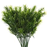 artificial evergreen bushes - Senjie Aritificial Plants Fake Pine Leaves Bunches for Home Indoor Outdoor Greenery Decor 4pcs 13.5