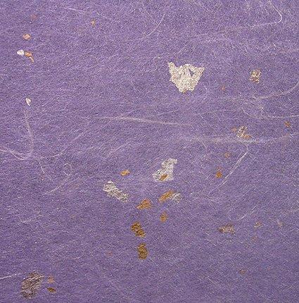 Sheer Rayon Tissue with Gold & Silver Leaf Flecks- Wisteria 31x21-1/2 Inch ()