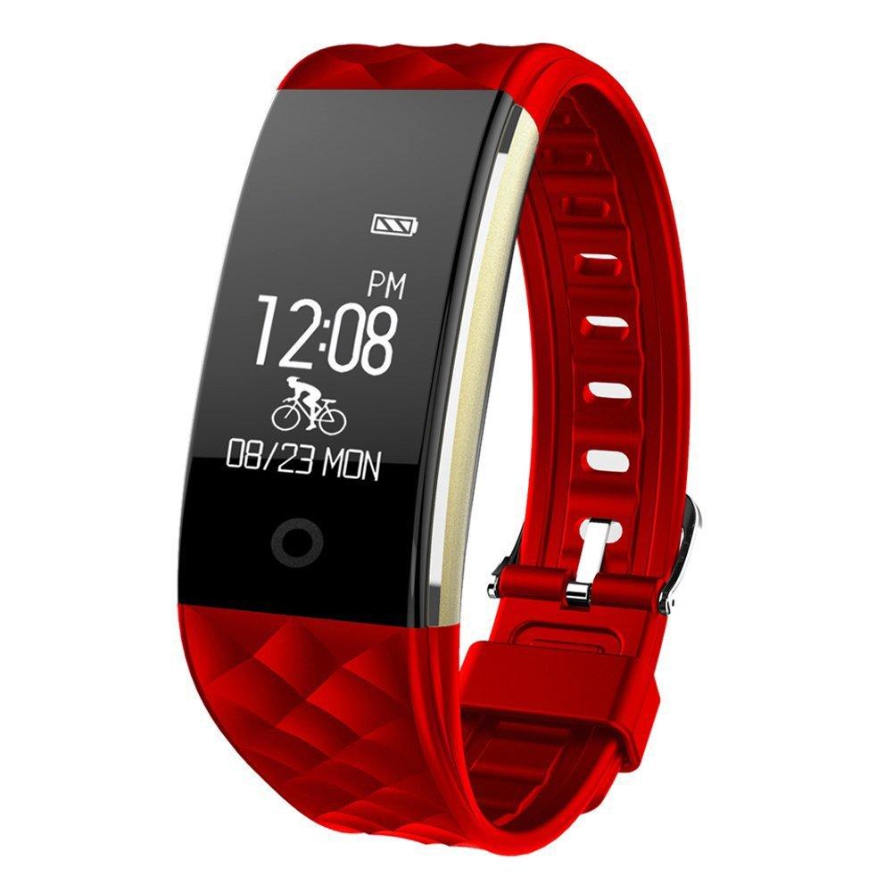 HR Fitness Tracker, Juboury Fitness Armband mit Touchscreen Aktivitä ts-Tracker, Herzfrequenz, Schrittzä hler, Schlaf Monitor, Kalorien Tracker.Bluetooth Smart Wristand Wearable fü r Android und IOS Smartphon KEDA
