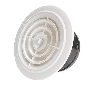 Hon&Guan 4'' Air Vent Air Grill Cover for Bathroom Office Home etc (ø100mm)