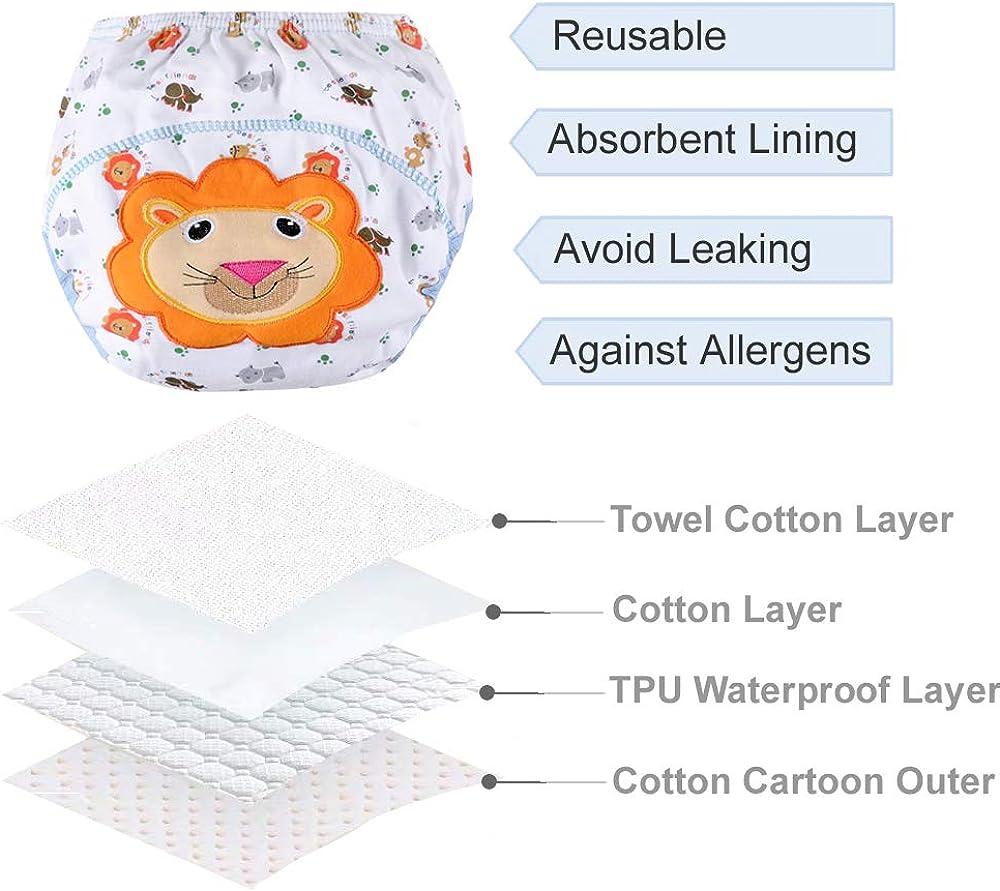 Orinery Waterproof Training Pants Unisex Toddler Kids Underwear 6-Pack