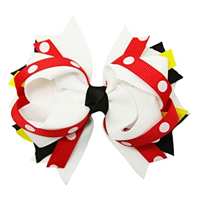 Wholesale Princess Girl's Minnie Mouse Polka Dot Hair Bow Clip