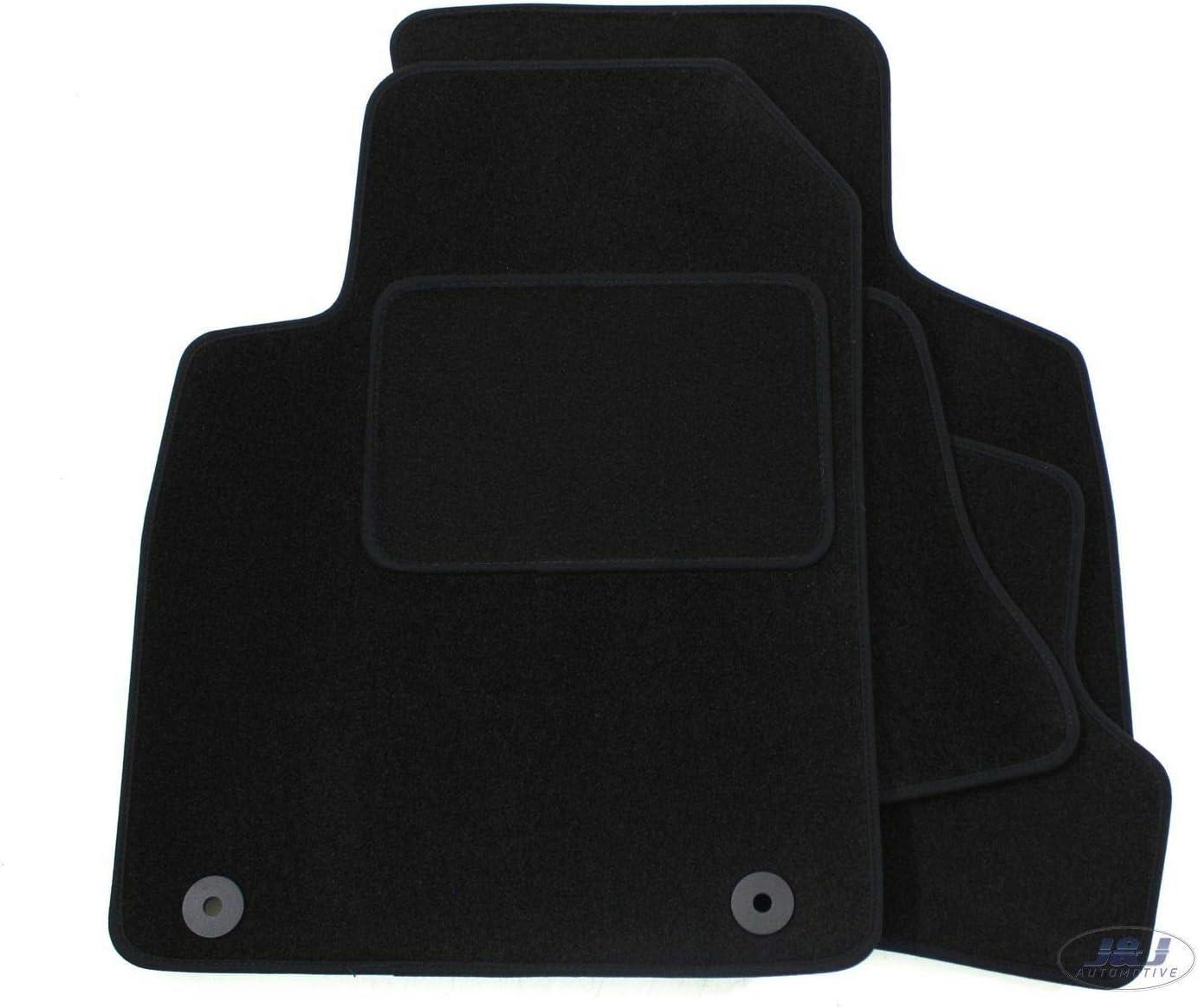 J/&J AUTOMOTIVE Tapis de Sol Noir Velours Compatible avec Audi TT 8N 2000-2007 4 pcs