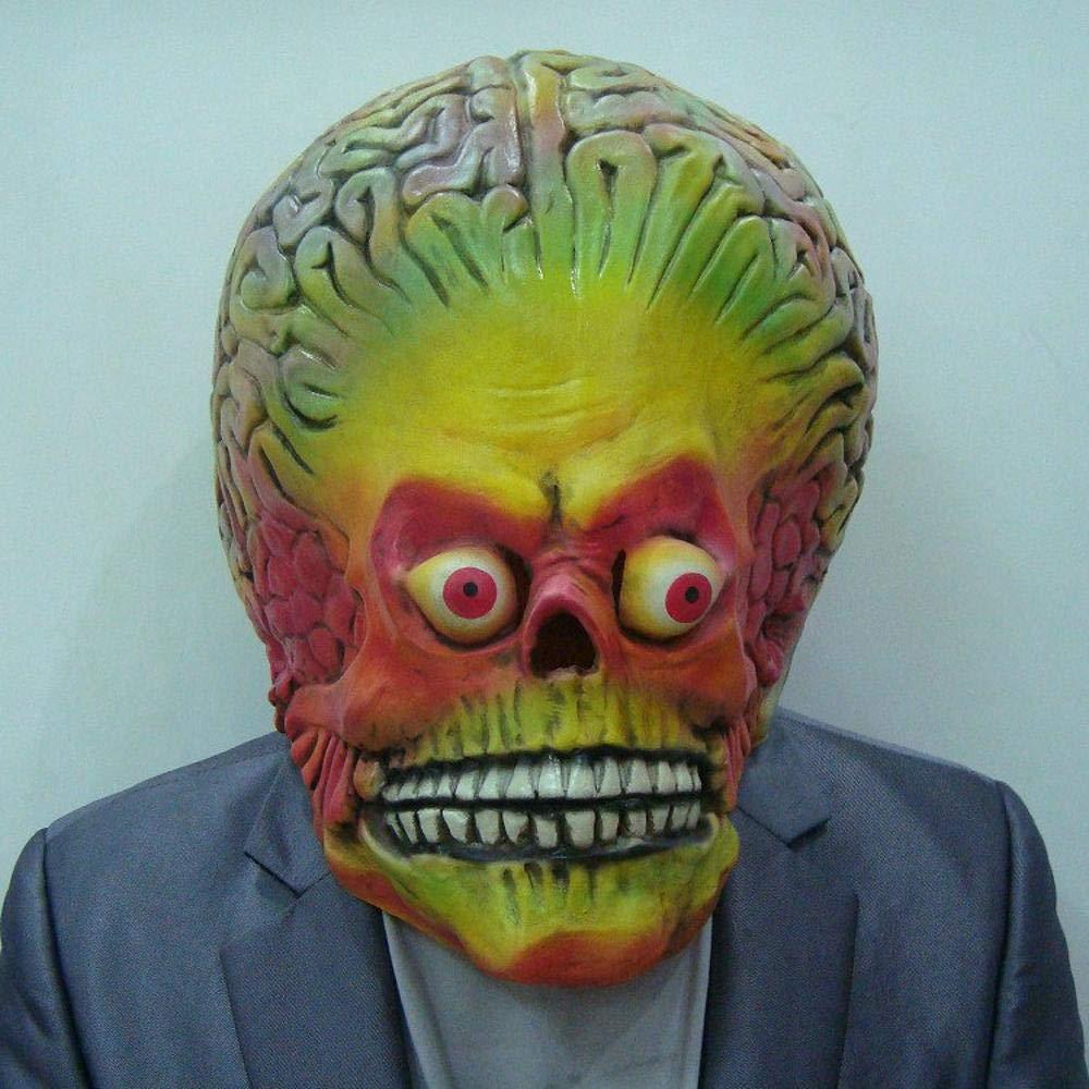 Littlefairy Maschera Halloween,Mostro di Halloween Haunted-Spaventoso Testa di Marte del colore Impostato