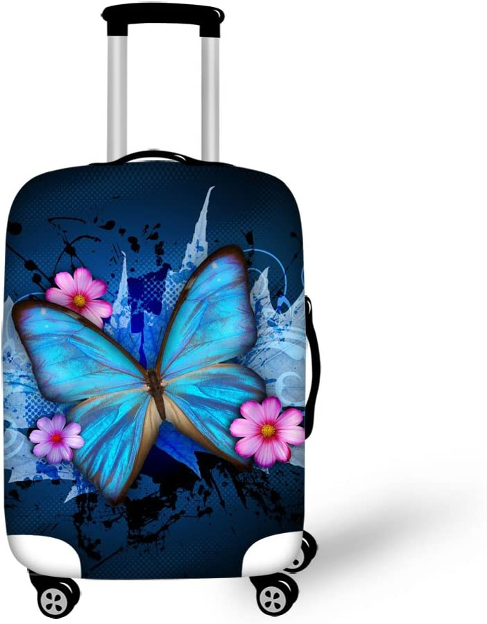 Cute Wonderful Peacock Pattern Print Luggage Protector Travel Luggage Cover Trolley Case Protective Cover Fits 18-32 Inch