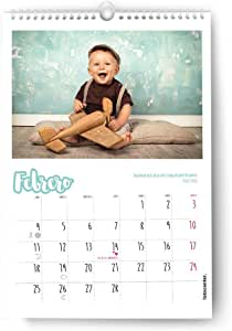 FOTOCENTER Calendarios Personalizados de Pared Espiral 30 x 42 cm de 14 páginas - Imprime tu Pack de 1 Calendario.: Amazon.es: Hogar