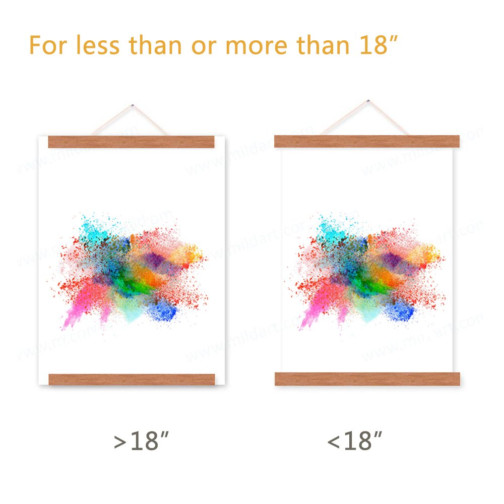 18x24 Poster Frame, Magnetic Light Wood Frame Hanger for Photo Picutre Canvas Artwork Art print Wall Hanging (1 Pack, 18'') by Benjia (Image #4)