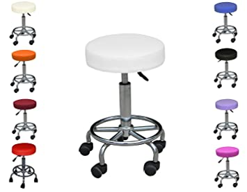 POLIRONESHOP SIMPLY Taburete silla para estetica manicura tattoo masaje uñas: Amazon.es: Hogar