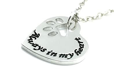 Charmtastic pet memorial necklace always in my heart pendant cat charmtastic pet memorial necklace always in my heart pendant catdog uk stock aloadofball Image collections