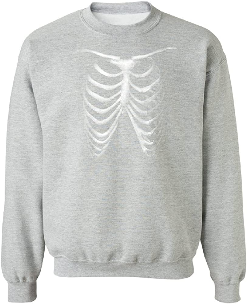 Rib Cage Glow in The Dark Unisex Crewneck Halloween Sweater