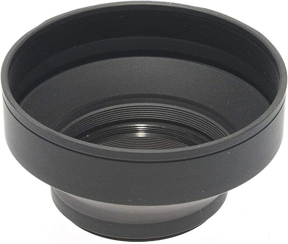 52mm 1Pcs 49mm 52mm 55mm 58mm 62mm 67mm 72mm 77mm 82mm Universal 3-Stage Collapsible Rubber Lens Hood