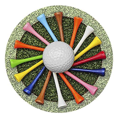Golf Set Coaster - Thirstystone Stoneware Coaster Set, Golf Tees