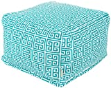 Majestic Home Goods Pacific Towers Ottoman, Large, Turquoise