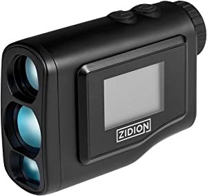 Zidion G600 Golf Rangefinder - Laser Range Finder with Slope Compensation Technology - Easy-Grip, Clear Optics, Quick Reading - 250-Yard Pin Seeker Lock-On with 6X Magnification - Long Battery Life