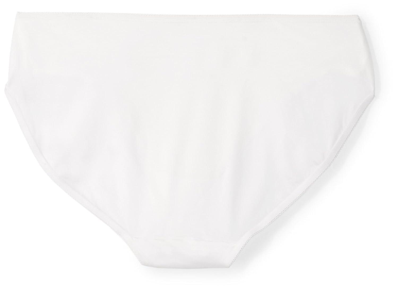 Arabella Womens Plus-Size Plus Size Soft Microfiber Panty with Picot Trim 3 Pack