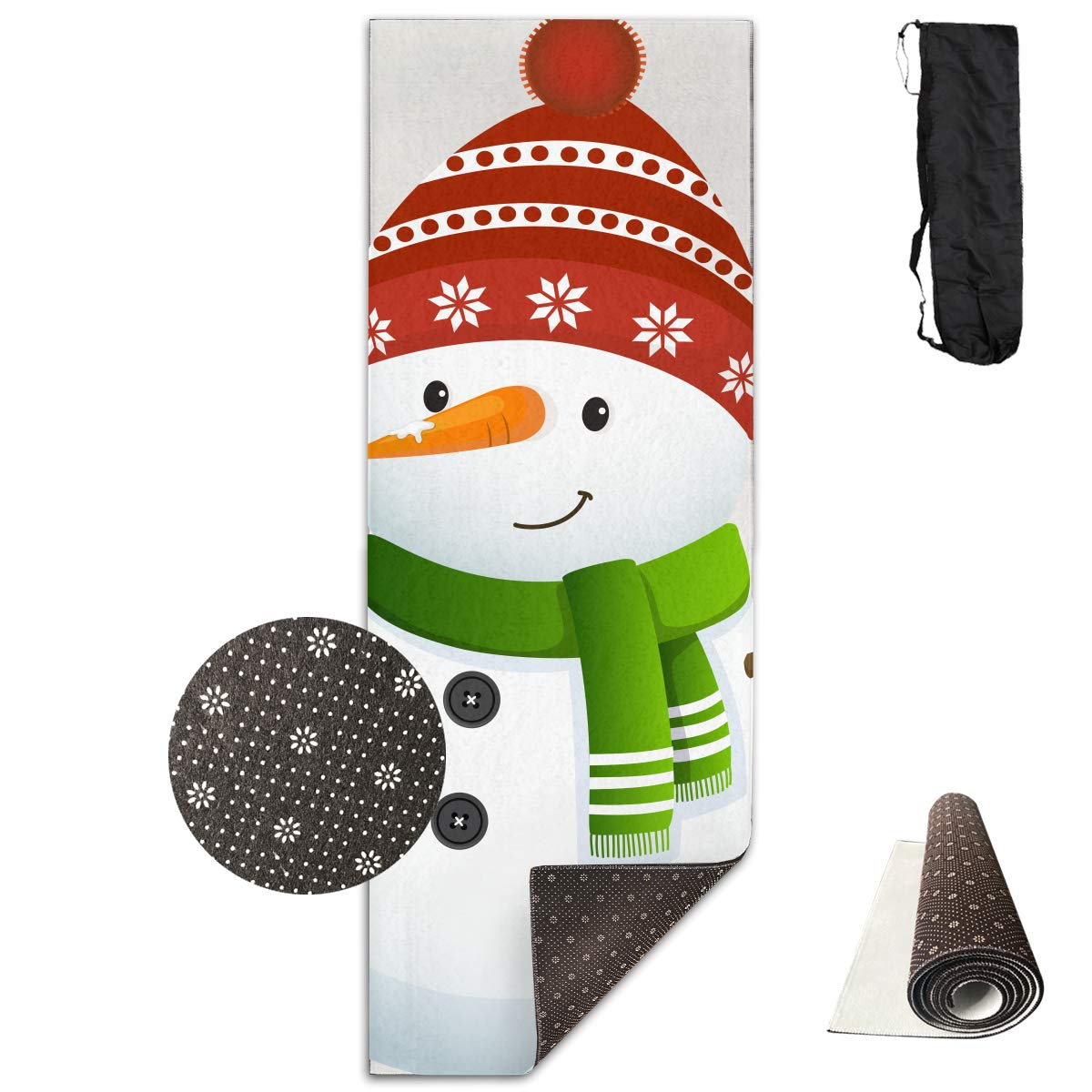 Amazon.com: Snowman Happy Yoga Mat - Advanced Yoga Mat - Non ...