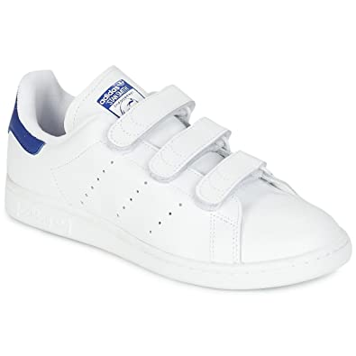 adidas Originals Mens Stan Smith CF Weiss/Blau Sneaker Low ...