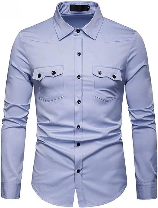 Camisa Hawaiana de Manga Corta Verano y otoño Camisa slim-fit de gran tamaño for hombres