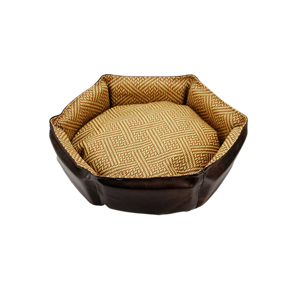 3 353512cm 3 353512cm WX-WX Pet Supplies Leather Doghouse Cat Nest Removable And Washable Pet Nest Four Seasons Universal Teddy Small Dog Kennel Resistance To Bite Cortical Fossa Multifunction