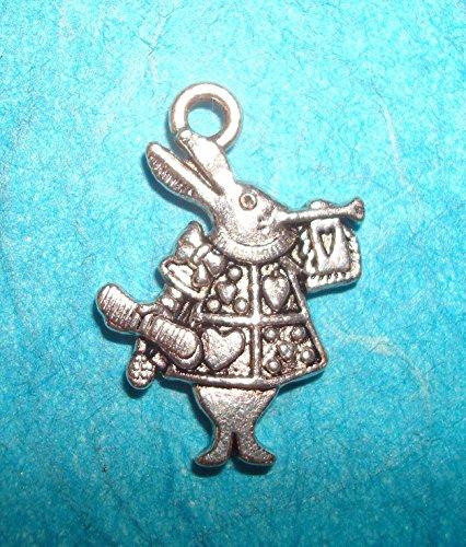 - Pendant Rabbit Charm Alice in Wonderland Music Cards Hearts Spade Club Diamond