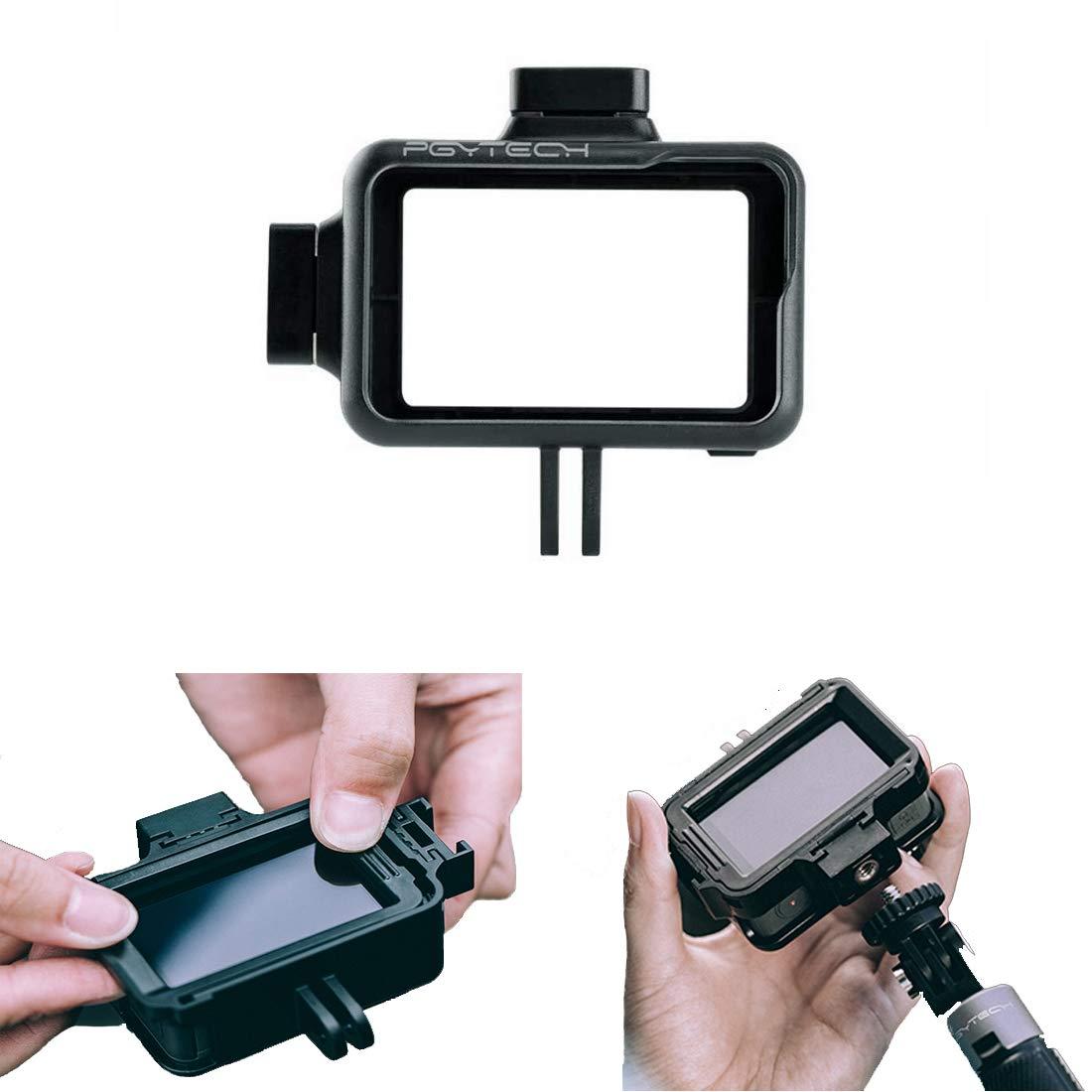 PGYTECHアクションカメラケージ DJI OSMOアクション用カメラ保護ハウジングフレームケースユニバーサルインターフェース拡張アクセサリー