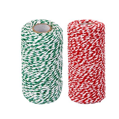 Bunting Wrap (MonkeyJack 2 Rolls 100M 2MM DIY Wrap Gift Link Paper Burlap Bunting Banner Hanging String Ribbon Twine Rope Cord)