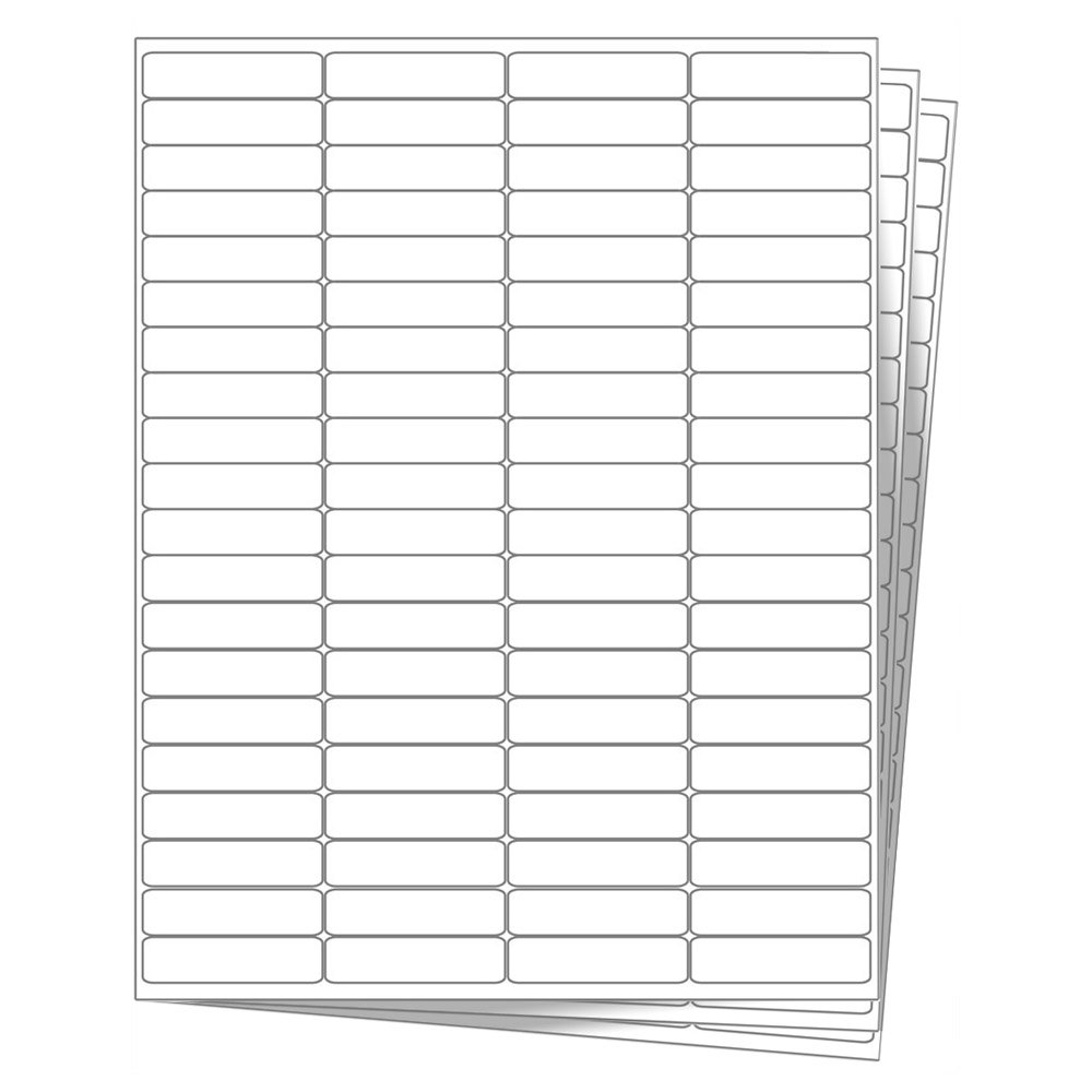 80 EcoSwift Shipping Labels 1 3/4 x 1/2 inches Mailing Address Return Inventory Blank White Self Adhesive for Laser Inkjet Printer 1.75 x 0.5