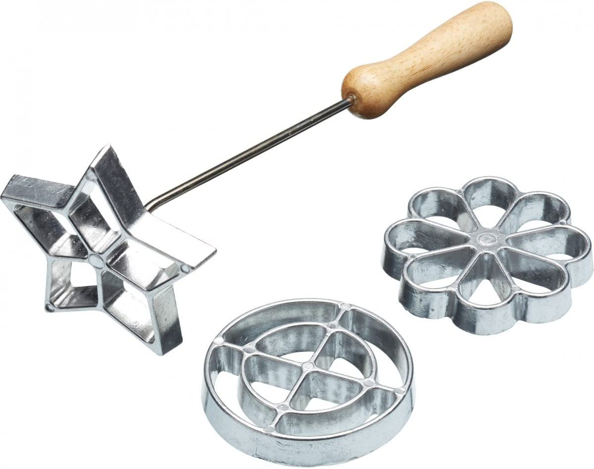 Kitchen Craft Home Made KCHMROSETTE roseta sueco juego de hierros de con tres cabezales intercambiables