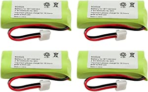 WalR Rechargeable Cordless Phone Battery Ni-MH, 4 Pack, for GE (General Electric) 28127FE2 28213EE1 28213EE2 28223EE2 28802FE1 28811FE2 28821FE2 28821FE3 28821FJ3 28871FE2 28871FE3