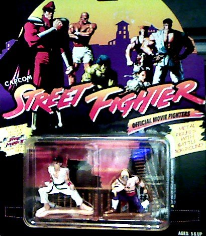 Ryu Hoshi Vs. Vega Die Cast Metal Action Figures - Capcom Street Fighter Official Movie Fighters