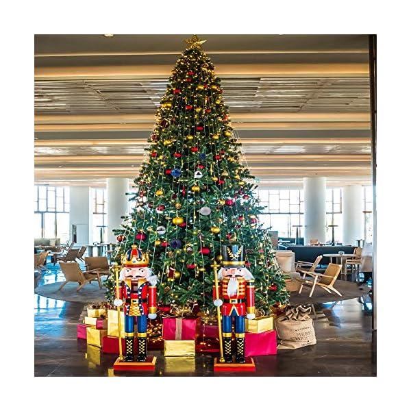 BLAZOR Palle di Natale,34pezzi Palline Addobbi Albero di Natalizie Ornamento Decorazione dell'albero Sfere di Natale Opaco Glitter Partito atrimonio Ornamento Natalizie Plastica Palle (Argento,4CM) 5 spesavip