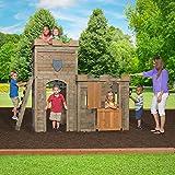 Castle Playhouse Cedar Wood Kids Outdoor Play Fun Garden Yard