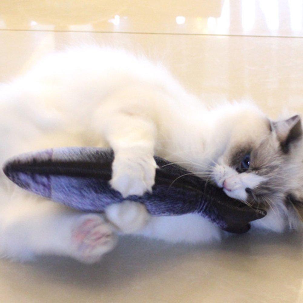 Da.Wa Pet Catnip Toy Cotton Stuffed Catmint Toy Simulation Scratch Chew Pilow Pet Supplies for Pet Toys Games Playing Pet Gift Red Arowana 20cm by Da.Wa (Image #6)