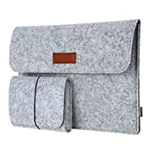 "dodocool 12 Inch Laptop Sleeve Felt Envelope Cover Ultrabook Carrying Case Notebook Protective Bag with Mouse Pouch for 12"" Apple MacBook / 11"" MacBook Air /12"" Surface Pro 3"