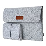 dodocool Laptop Sleeve Felt 12 Inch Envelope Cover Ultrabook Carrying Case with Mouse Pouch for 12' Apple MacBook / 11' MacBook Air /12' Surface Pro 3 and More