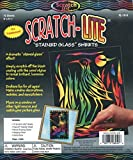 Melissa & Doug Scratch Art Stained Glass - 10 Translucent Color-Reveal Sheets