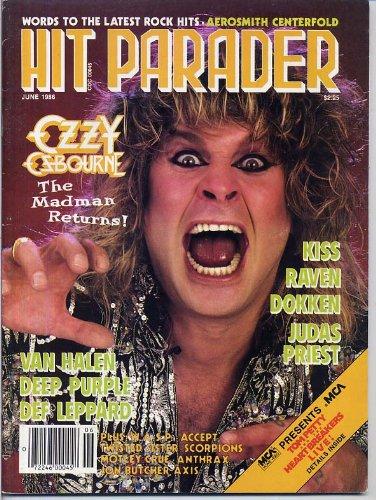 Hit Parader Magazine OZZY OSBOURNE Deep Purple AEROSMITH KISS Van Halen UFO Dokken W.A.S.P. JUNE 1986 C (Hit Parader Magazine) (Aerosmith Van)