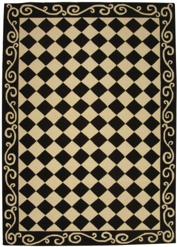 Price comparison product image Area Rug 8x11 Rectangle Transitional Black - Ivory Color - Safavieh Chelsea Rug from RugPal