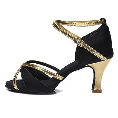 fc4ebc747 Hong Heels 5cm and 7cm Women's Shoes Classic Tango Ballroom Latin Salsa  Dance Shoes for Girls
