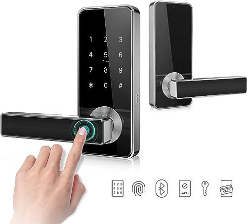 Keyless Entry Door Lock Smart Biometric Fingerprint Door Handle