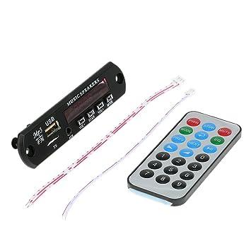 Kebidu 5 V 12 V Diy Drahtlose Bluetooth Mp3 Player Wma Decoder Board Auto Audio Usb Tf Fm Radio Modul Fernbedienung Für Auto Mp3-player Tragbares Audio & Video