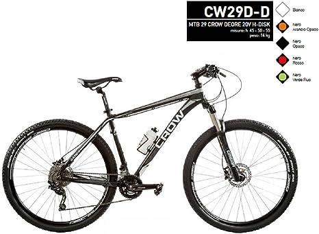 Bicicleta MTB 29 Crow Grupo Deore Discos hidráulico (nero-opaco ...